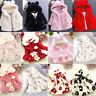 Baby Toddler Kid Faux Fur Fleece Coat Winter Warm Jacket Plush Babies Outwear