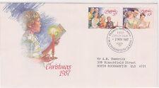(K9-83) 1987 Au Fdc 2envelopes 7stamps Christmas (Ab)