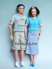 Grandpa & Grandma Happy Family Barbie Ken Doll Lot 2 Grandparents Fashion Outfit