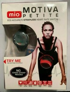 Mio Motiva Petite ECG Strapless Heart Rate Watch w/extra Red Watch Band