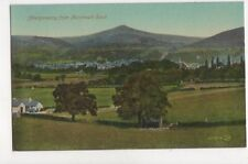 Abergavenny From Monmouth Road Vintage Postcard 759a
