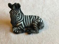 Vintage 1987 Stone Critter Lying Down Baby Zebra Figurine - Sc235
