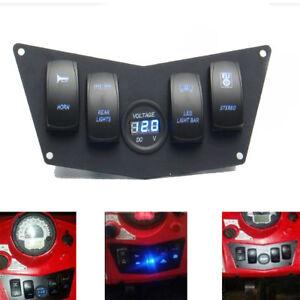 Dash Panel 4 Rocker Switch For ATV UTV Polaris Ranger RZR XP 900 800 and 570