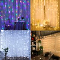 8 Modes Fairy LED Curtain String  Lights Christmas / Wedding Indoor Decoration