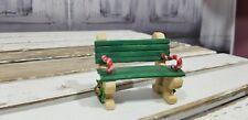 Enesco Sandi Zinmicki RARE Xmas Holiday North pole park bench