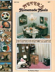 Dollhouse Miniature Meyer's Homemade Meals Instructional Book BOY012