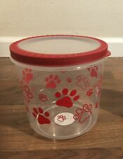 New listing Bpa-Free Plastic Airtight Cat and Dog Pet Treat & Food Storage Container, red