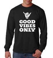 Long Sleeve Good Vibes Only T Shirt Yoga Motivational Positive Vibes Gym Tee