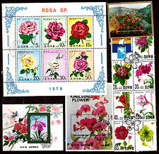 KOREA Blocks and book : Plantes of the alps , roses and various C202
