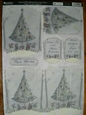 Beautiful Kanban Die Cut Christmas Toppers 'Frosted Woodland Xmas Tree' (449) M