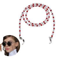 Beaded Eyeglass Cord Reading Glasses Eyewear Spectacles Chain Holder Fashion RF