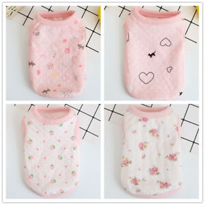 XXS Girl chihuahua Dog Clothes Pink Cotton Summer Pet Vest for yorkie toy poodle