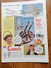 1943 Camel Cigarette Ad WW 2 Stinger 2 Gun Emplacement in Tail Flying Fortress