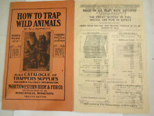 Great Vintage 1920 Northwestern Hide & Fur Trapping Catalog W/ Supplement