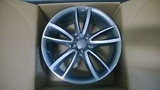 """Genuine Audi A5 S5 20"""" 5-double arm Parabolic Anthracite & Polished Alloy Wheels"""