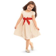 American Girl CL BITTY BABY CREAM & CRIMSON DRESS 5 M FOR GIRL Holiday Gown NEW