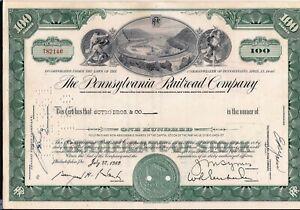 Stock certificate Pennsylvania Railroad Company 1960s