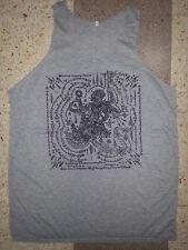 Men Tank Top sleeveless dragon demon bali Om thai hindu hobo hippie om Cotton XL