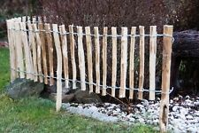 5m Staketenzaun Haselnuss Imprägniert Steckzaun Gartenzaun H 35cm Abst.3-4cm V37