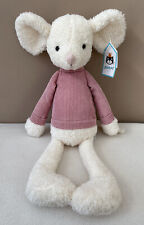 Jellycat Jumble Mouse Soft Toy Baby Comforter Cream Pink