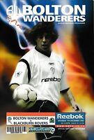 Football Programme>BOLTON WANDERERS v BLACKBURN ROVERS Dec 2002