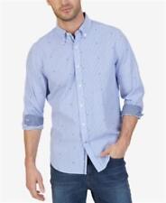 Nautica Striped Anchor Print Shirt Bright Colbot Mens Size XXL New