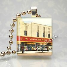 VINTAGE WOOLWORTH DEPARTMENT STORE Scrabble Tile Pendant Jewelry Charm