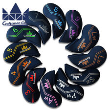 Craftsman OEM Golf Iron Covers Headcovers For Titleist AP2 Taylormade Ping Blue