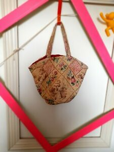 Vintage fabric Knitting bag 1940s WW2 Home Front Vintage original