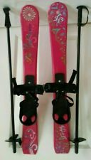 LB Lucky Bums Kid's Beginner Snow Skis w/Poles