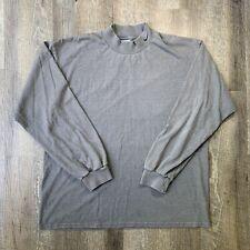 ** Rare Vintage NIKE Swoosh Mock Turtleneck LS T Shirt 90s 2000s Gray SZ L