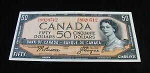 1954  Fifty Dollar Bank Note  -  Beattie / Coyne  -  Very Nice !!!  READ !!!