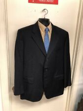 Corneliani Suit Jacket Size 46R Navy Blue Pinstripes 100% Wool Italy F-57