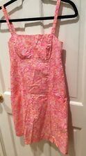 Lilly Pulitzer Size 2 Sundress Cute Pink & Orange Bicycles