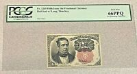 1874 10c Fractional Red Seal Note PCGS 66 PPQ