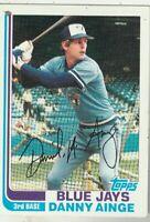 FREE SHIPPING-MINT-1982 Topps #125 Danny Ainge Toronto Blue Jays PLUS BONUS CRDS
