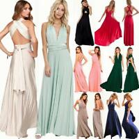 Bridesmaid Dress Long Evening Wedding Party Ball Prom Convertible Multiway Dress