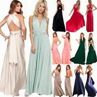 Convertible Multiway Bridesmaid Dress Evening Wedding Party Ball Prom Long Dress