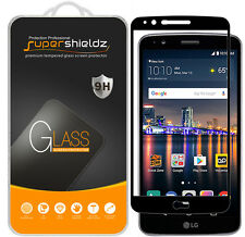 2X LG Stylo 3 / LG Stylus 3 Full Cover Tempered Glass Screen Protector (Black)