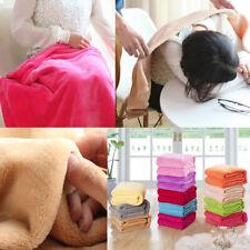Solid Warm Micro Plush Fleece Blanket Throw Rug Sofa Bedding Soft Pet Blanket