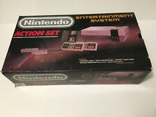 Nintendo Entertainment System Action Set Gray NES Console CIB Complete Tested