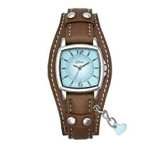 S.Oliver Women's Watch So 1339 LQ with Leather Bracelet Brown Teen Watch + Heart