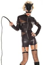 Costume Sexy Cat Woman donna gatta in vinile PVC travestimento CAT SUIT gattina