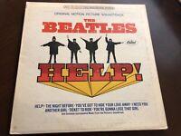 THE BEATLES HELP VINYL SOUNDTRACK LP APPLE PRESSING