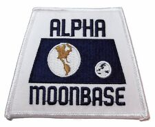 "Space 1999 Alpha Moonbase Orbit Dark Blue Logo 3 3/4"" Wide Patch"