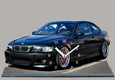 MODEL CARS, BMW M3- E46 -02, car passenger,11,8x 7,8 inches  with Clock