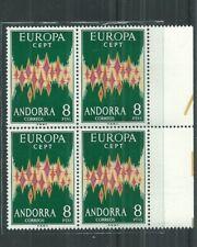 ANDORRA [SP]  1972 EUROPA BLOCK MNH** CV £600