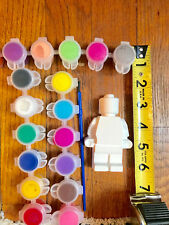 12 LEGO  party favors to paint.Creative. DIY, birthday, class,school ,boy, girl.