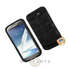 Samsung N7100 Galaxy Note 2 Shield Fishbone Black Case Cover Shell Guard