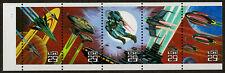 US 1993 #2745a 2741/45 - 29c Space Fantasy Strip/5 Bklt Pane Mint MNH XF